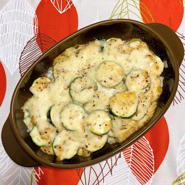メインおかずになる!ズッキーニのツナマヨチーズ焼きレシピ